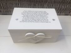 Shabby Personalised Chic Lesbian Wedding Present EXTRA LARGE Gift Memory Box